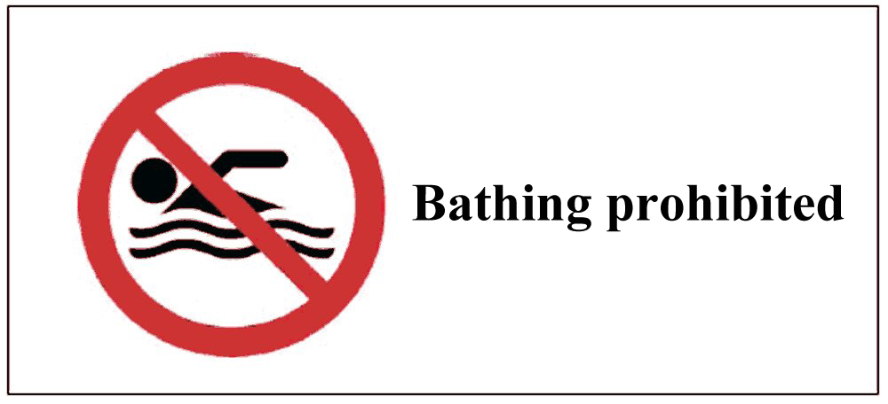bathing prohibited